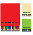 box of color pencils vector image vector image