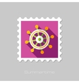 Helm flat stamp with long shadow vector image