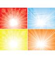 sunbeam backgrounds vector image vector image