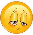sorrow emoticon vector image vector image
