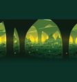 background of landscape with deep mushroom forest vector image