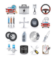 car parts and service vector image