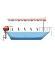 Excursion ship icon cartoon style vector image