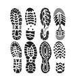 Footprint sport vector image