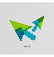 Modern colorful paper arrow design vector image