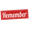 remember sign or stamp vector image