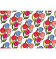 seamless background woth spring flowers of tulips vector image