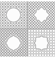 Set of Thin Line Vintage Frames on Black and White vector image