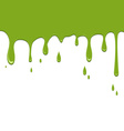 Spilled green color on a white background vector image