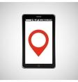 pointer map mobile phone navigation vector image