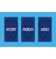 Three card tarot spread Problem solution vector image