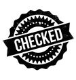 Checked stamp rubber grunge vector image