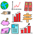 object business various of doodles vector image