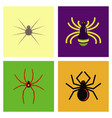 assembly flat icons halloween spider vector image