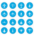 aviation set icon blue vector image