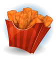 chicken dips inside red package vector image