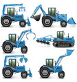 Agricultural Tractor Set 3 vector image vector image