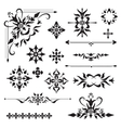 Ornamental design elements vector image vector image