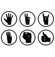different hands in a circle vector image