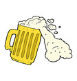 comic cartoon mug of beer vector image
