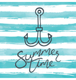 Summer background with anchor icon vector image vector image