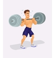 a weightlifter vector image