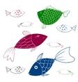 Aquarium Fishes - set of icons vector image