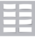 Empty white paper business banners with different vector image