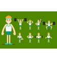Girl plays sports Beautiful body Set Exercise vector image