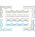 guilloche border and corners vector image