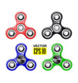 hand spinner fashionable toy stress reduction vector image