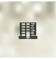 hotel icon on blurred background vector image