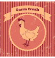 retro chicken vector image