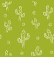 seamless pattern with cactus background vector image