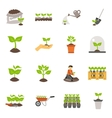 Seedling Flat Icons Set vector image