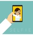 Selfie poster vector image