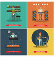set of musical instruments concept posters vector image