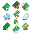 set icons sport vector image vector image