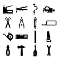 Set icons of tools vector image vector image