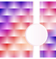 a pink background with squares stripe vector image vector image