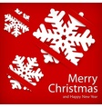 Paper snowflakes on red vector image