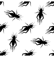 Seamless pattern with cricket or grig Gryllus vector image