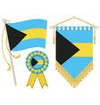 bahamas flags vector image vector image