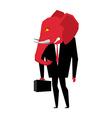 Elephant Republican politician Metaphor of vector image