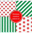 merry christmas seamless patterns endless vector image