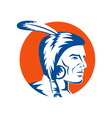 Native american indian brave vector image