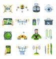 New Technologies Icon Set vector image