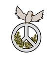 peace symbol design vector image