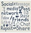 Social media lettering vector image