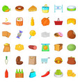 sweet candy icons set cartoon style vector image